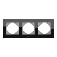 VIDEX BINERA Рамка черное стекло 3 поста горизонтальная (VF-BNFRG3H-B) (12/96)