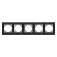 VIDEX BINERA Рамка черный алюминий 5 поста горизонтальная (VF-BNFRA5H-B) (6/48)