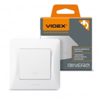 VIDEX BINERA Выключатель белый 1кл промежуточный (VF-BNSW1I-W) (20/120) (24568)
