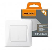VIDEX BINERA Выключатель белый 1кл проходной (VF-BNSW1P-W) (20/120) (24451)