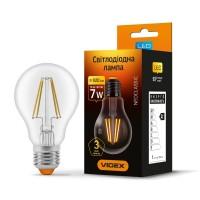LED лампа VIDEX Filament A60F 7W E27 4100K 220V (VL-A60F-07274)