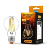 LED лампа VIDEX Filament A60F 10W E27 4100K 220V (25791)