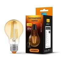 LED лампа VIDEX Filament A60FA 10W E27 2200K 220V (25792)