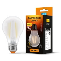 LED лампа VIDEX Filament A60FMD 7W E27 4100K 220V диммерная