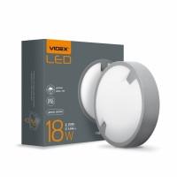 LED светильник IP65 круглый VIDEX 18W 5000K 220V день-ночь  16шт/ящ (VL-BH12R-185-N) (26106)