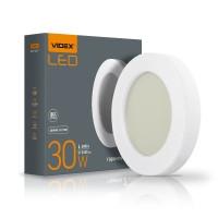 LED светильник ART (ЖКХ) круглый VIDEX 30W 5000K 220V  (10шт\ящ) (VL-BHFR-305) (25803)
