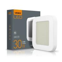 LED светильник ART (ЖКХ) квадратный VIDEX 30W 5000K 220V (10шт\ящ) (VL-BHFS-305) (25804)