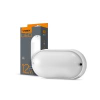 LED светильник (ЖКХ) овальный VIDEX 12W 5000K 220V  белый (VL-BHO-125PW)