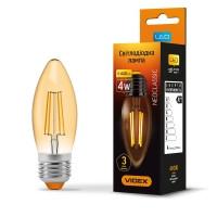 LED лампа VIDEX Filament C37FA 4W E27 2200K 220V бронза (VL-C37FA-04272)