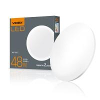 LED светильник настенно-потолочный Круглый VIDEX 48W 4100K 220V (VL-CLR-484М) Матовый (25844)