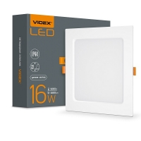 LED светильник Back квадрат VIDEX 16W 5000K 220V (VL-DLBS-165) 20 шт/ящ (26342)