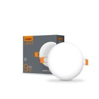 LED светильник безрамочный круглый VIDEX 9W 4100K 220V (VL-DLFR-094) 20 шт/ящ (25138)