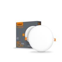 LED светильник безрамочный круглый VIDEX 15W 4100K 220V (VL-DLFR-154) 20 шт/ящ (25139)