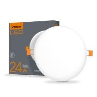 LED светильник безрамочный круглый VIDEX 24W 4100K 220V (VL-DLFR-244) 20 шт/ящ