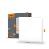 LED светильник безрамочный квадратный VIDEX 15W 4100K 220V (VL-DLFS-154) 20 шт/ящ (25142)