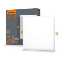 LED светильник безрамочный квадратный VIDEX 24W 4100K 220V (VL-DLFS-244) 20 шт/ящ (25143)