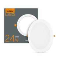 LED светильник встраиваемый круглый VIDEX 24W 5000K 220V 20 шт/ящ
