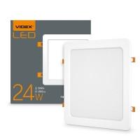 LED светильник встраиваемый квадрат VIDEX 24W 5000K 220V 20 шт/ящ (24881)