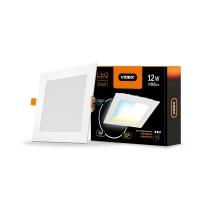 LED светильник с регулировкой цветности, встраиваемый Квадрат VIDEX 12W 3000-6200K 220V С3