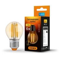 LED лампа VIDEX Filament G45FA 6W E27 2200K 220V (VL-G45FA-06272) (25800)