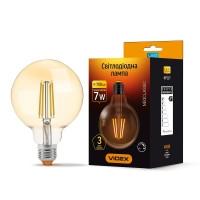 LED лампа VIDEX Filament G95FAD 7W E27 2200K 220V (VL-G95FAD-07272) бронза диммерная