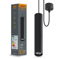 LED светильник подвесной накладной VIDEX 10W 4100K 220V черный (VL-SP-10034B) (26483)