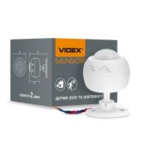 Датчик движения и освещения VIDEX VL-SPS27W  220V 1200W IР 20 (50шт/ящ) инфракрасный (26149)