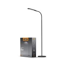 LED торшер напольный чёрный VIDEX  VL-TF0702B 8W 3000-5500K 220V(4шт/ящ) (25049)