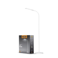 LED торшер напольный белый VIDEX  VL-TF0702W 8W 3000-5500K 220V(4шт/ящ) (25048)